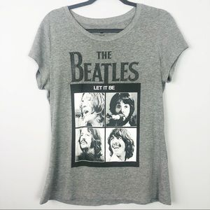 The Beatles | Gray Let It Be Tee with Sparkle
